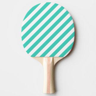 Trullo y modelo diagonal blanco de las rayas pala de ping pong