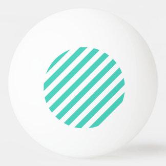 Trullo y modelo diagonal blanco de las rayas pelota de ping pong