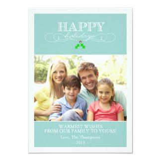 Trullo y tarjeta blanca de la foto del día de invitación 12,7 x 17,8 cm