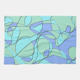 Trullo y toalla de mano moderna abstracta azul del