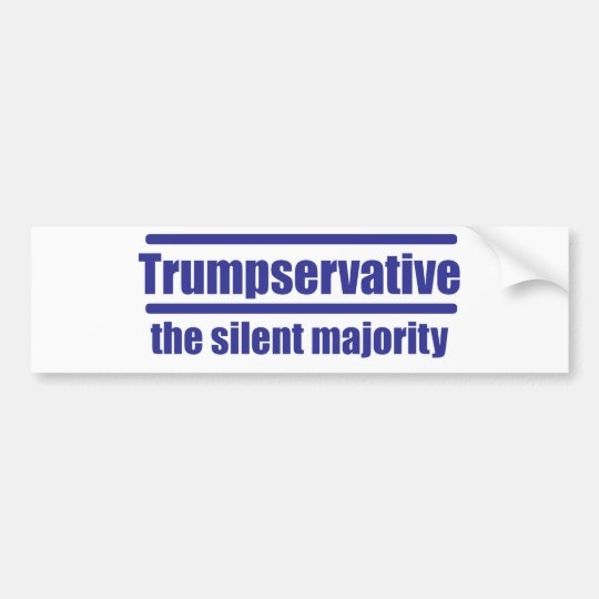 Trumpservative la mayoría silenciosa, pegatina para coche