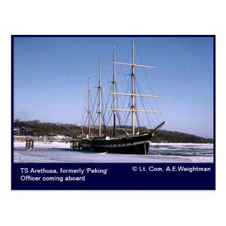 TS Arethusa, icebound Postales