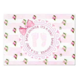 Ts florales rosados de los rosas una invitación de