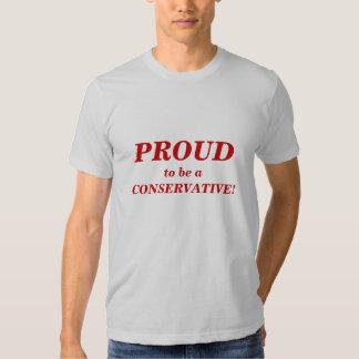 tshirt_PROUD a ser un CONSERVADOR Camisetas