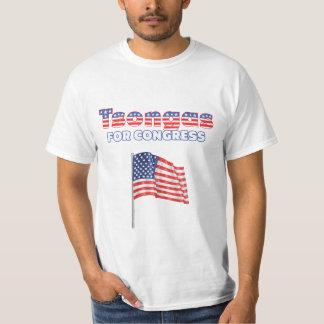 Tsongas para la bandera americana patriótica del camiseta
