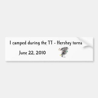 TT acampados - Tornado Bumpersticker de Hershey Etiqueta De Parachoque