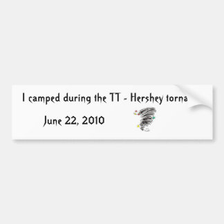 TT acampados - Tornado Bumpersticker de Hershey Pegatina Para Coche