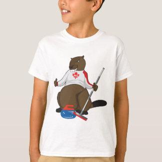 Tubería que se encrespa del castor de Canadá 150 Camiseta