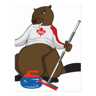 Tubería que se encrespa del castor de Canadá 150 Postal