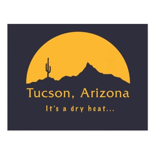 Tucson, Arizona - es un calor seco… Tarjeta Postal