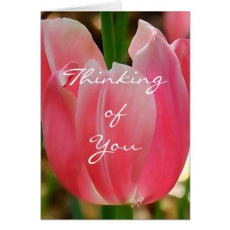 Tulip7 que piensa en usted tarjeta-personalizar tarjeta de felicitación