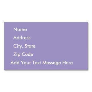 Tulipán violeta tarjetas de visita magnéticas (paquete de 25)
