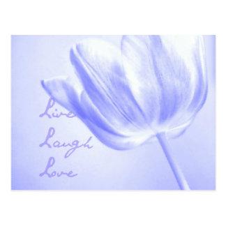 Tulipán vivo, risa, amor de la lila tarjeta postal