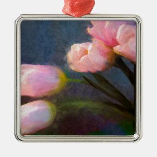 Tulipanes 2 adorno de cerámica