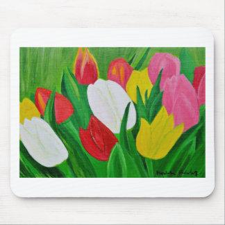 Tulipanes 2a alfombrilla de ratón