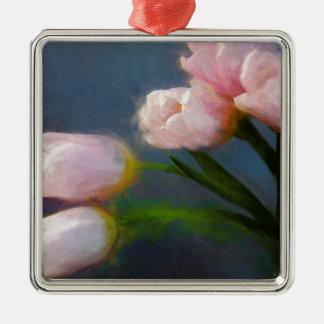Tulipanes 3 adorno de cerámica
