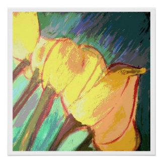 Tulipanes amarillos - impresión brillante 20 x 20 perfect poster