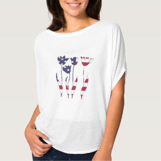 "Tulipanes ""bandera americana "" camiseta"