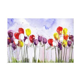 Tulipanes de la primavera lienzo