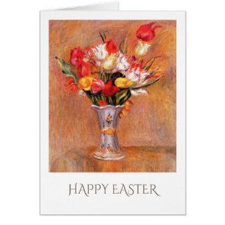 Tulipanes de la primavera. Tarjetas de pascua de