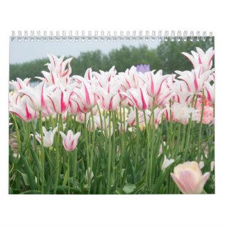 tulipanes durante todo el año calendarios de pared