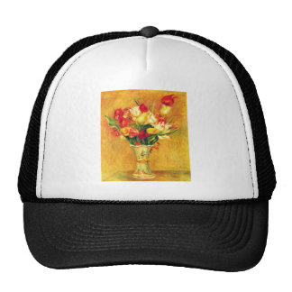 Tulipanes en un florero de Pedro Renoir Gorros Bordados