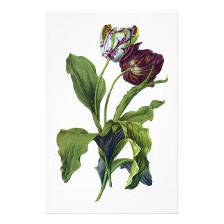 Tulipanes extraídos de la naturaleza por Gerard va Papelería Personalizada