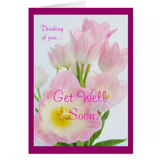 Tulipanes rosados: ¡Consiga bien pronto! Tarjeton
