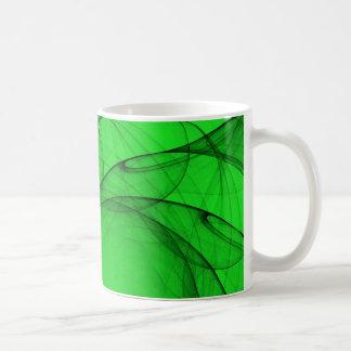 Tulle verde abstracta Sun Taza De Café