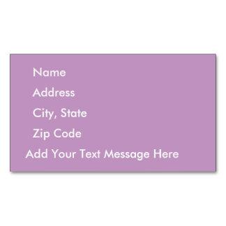 Tulle violeta tarjetas de visita magnéticas (paquete de 25)