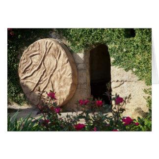 Tumba del arte cristiano subido Cristo de Jesús Tarjeta