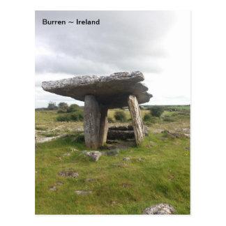 Tumba porta de Poulnabrone, Burren, Clare, Irlanda Postal