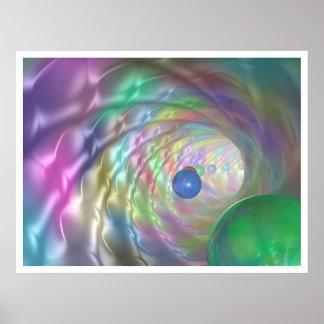 Túnel de colores póster