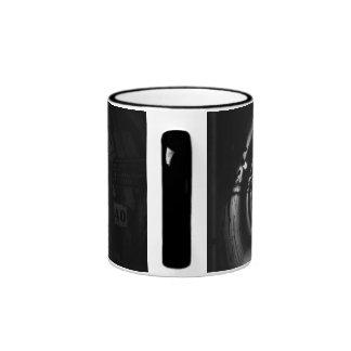 Túnel para del tain la parte posterior y el blanco taza a dos colores