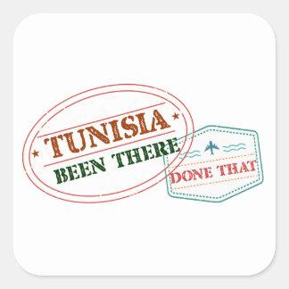Túnez allí hecho eso pegatina cuadrada