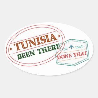 Túnez allí hecho eso pegatina ovalada