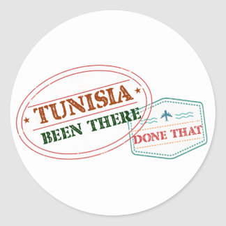 Túnez allí hecho eso pegatina redonda