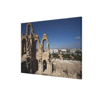 Túnez, costa central tunecina, EL Jem, 6 romanos Impresiones En Lona Estiradas
