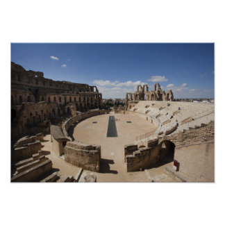 Túnez, costa central tunecina, EL Jem, 6 romanos Póster