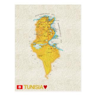 ♥ Túnez de las POSTALES del MAPA