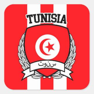 Túnez Pegatina Cuadrada