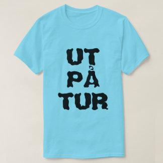 Tur noruego del på de Ut del texto - hacia fuera Camiseta