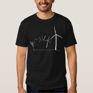 Turbinas de viento blancas camisetas