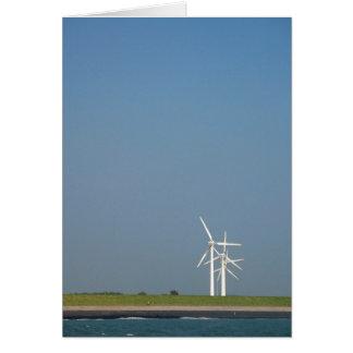 Turbinas de viento tarjeta