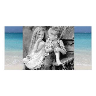 Turcos de la playa el   y foto hermosos de Caicos Tarjeta Fotografica Personalizada