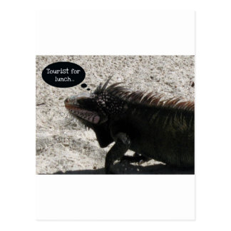Turista para el almuerzo… tarjeta postal