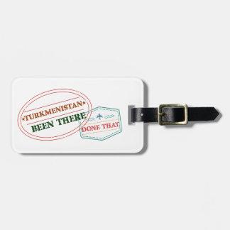 Turkmenistán allí hecho eso etiqueta para maletas