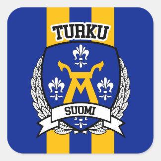 Turku Pegatina Cuadrada
