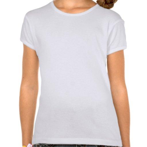 Turquesa; Animadora del verde azul Camisetas