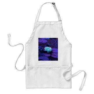 Turquesa azul púrpura mágica de la flor de Lotus Delantal